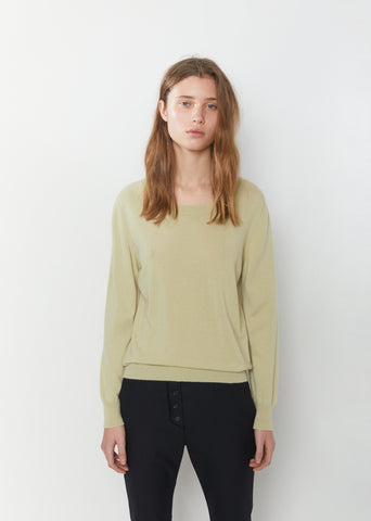 Long Sleeve Cashmere Crewneck
