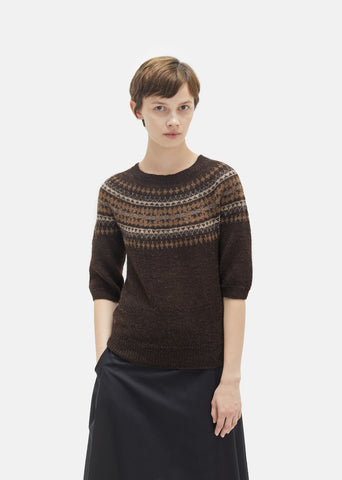 Elbow Sleeve Fairisle Sweater