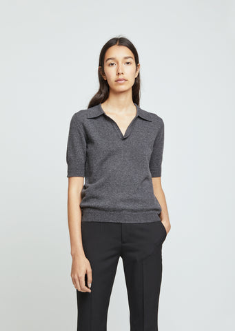 Short Sleeve Polo Sweater