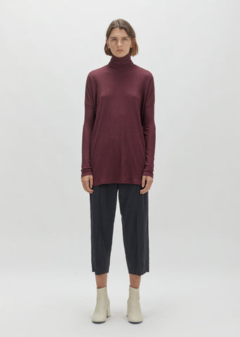Warm Rib Turtleneck Tunic
