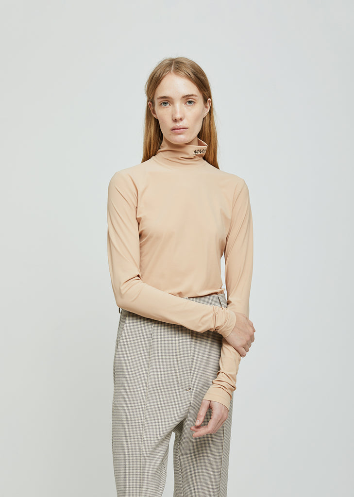 Stretch Jersey Turtleneck
