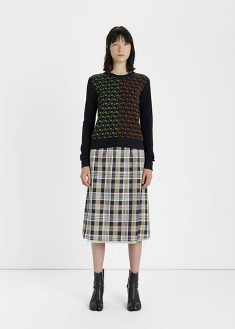 Reversible Wool Gauze Skirt