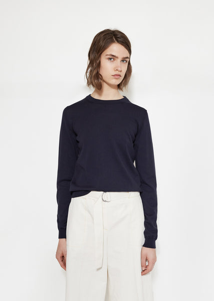 Cotton Elbow-Patch Sweater