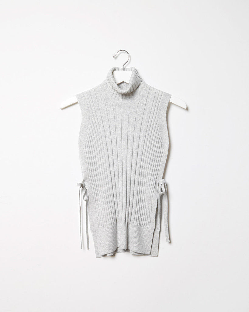 Felted Sleeveless Turtleneck