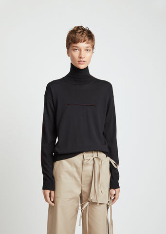 Lightweight Wool Turtleneck Sweater