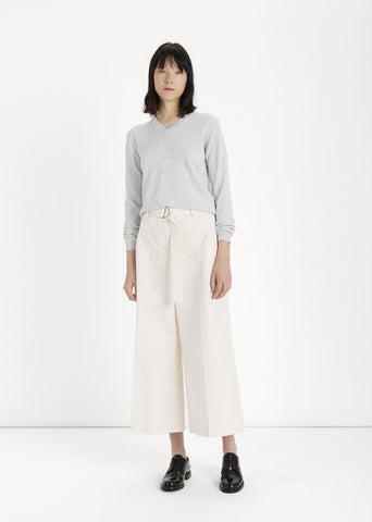 Cotton & Linen D-Ring Waist Trouser