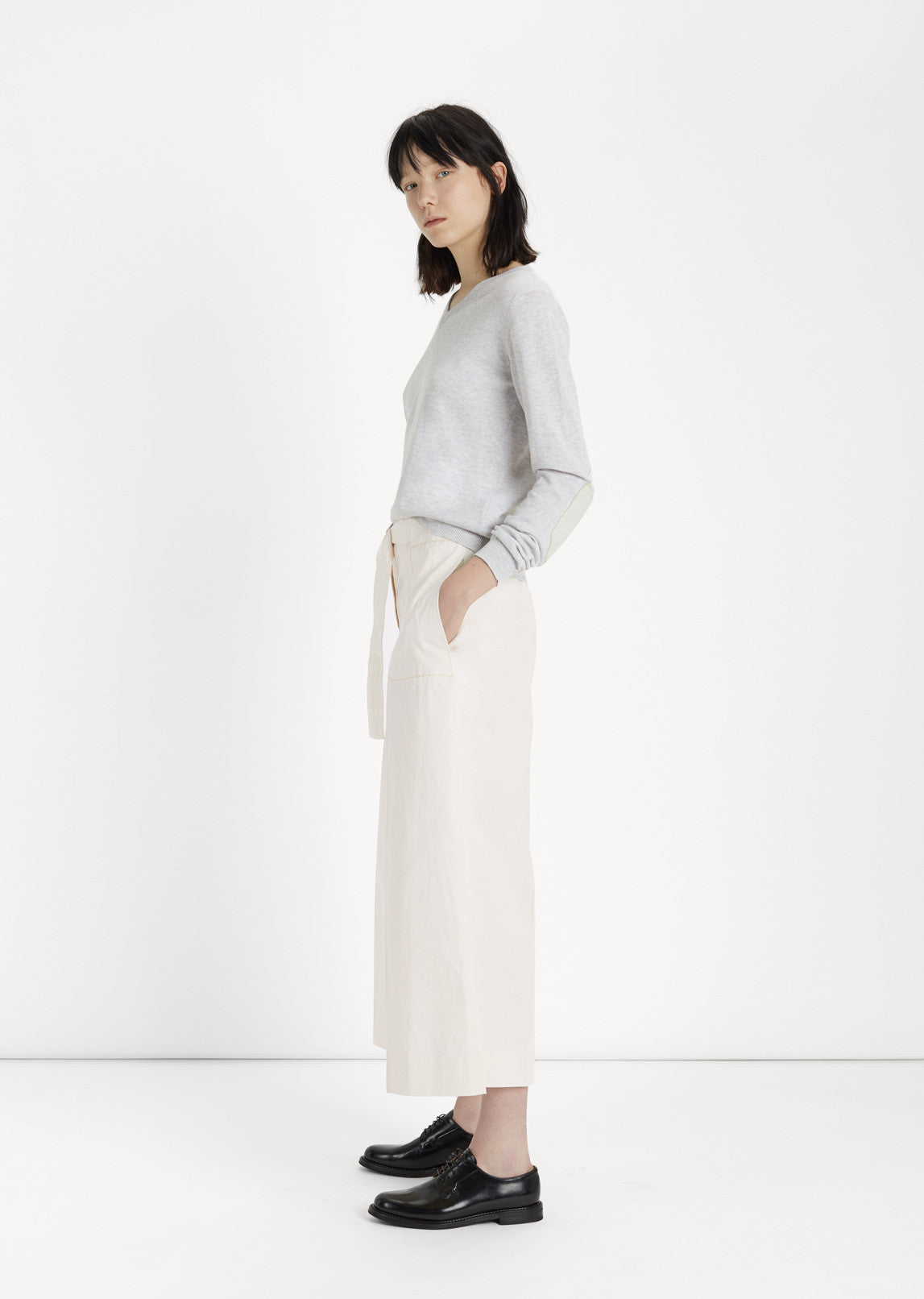 Cotton & Linen D-Ring Waist Trousers