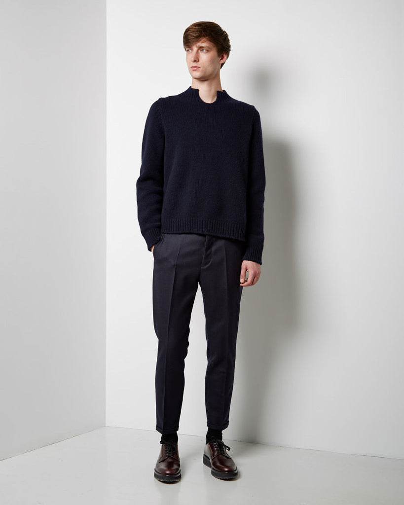 Crew Neck Wool Cashmere Knit