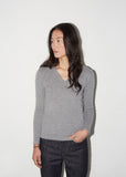 Portrait V-Neck Sweater