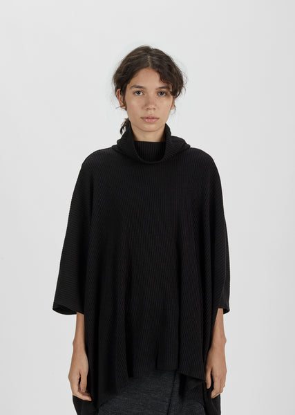 Flared Turtleneck Sweater