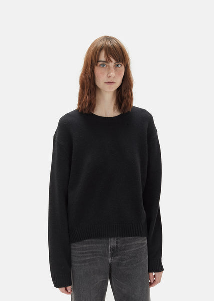 Wool Cashmere Crewneck Sweater