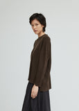 Wool Cashmere Distressed Sweater