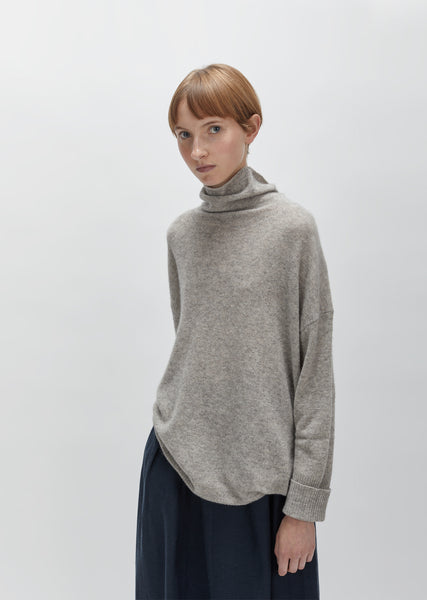Wool Raccoon Turtleneck Sweater