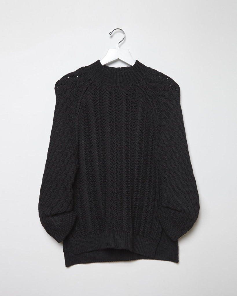 Textured Cable Stitch Pullover