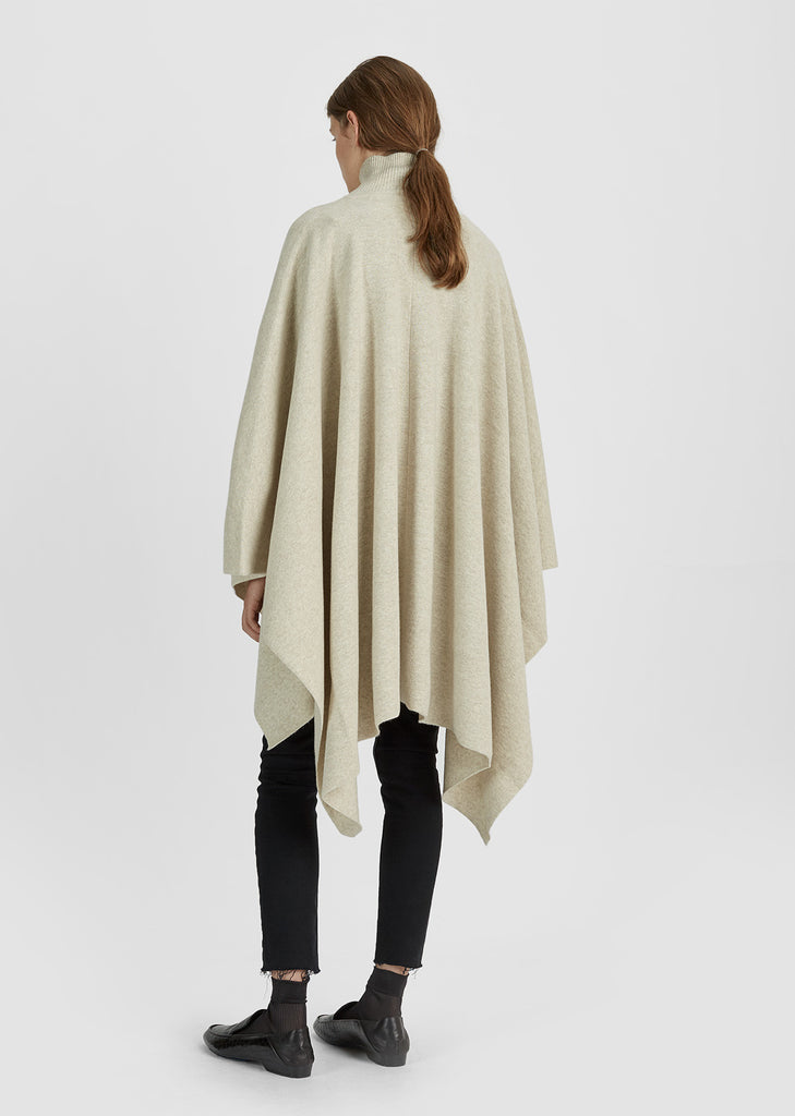 Wool Cashmere Poncho