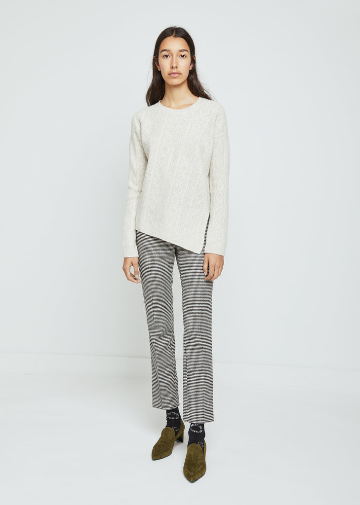 Overwashed Cable Rib Sweater