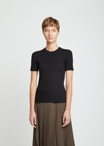 Merino Flatrib Short Sleeve Sweater