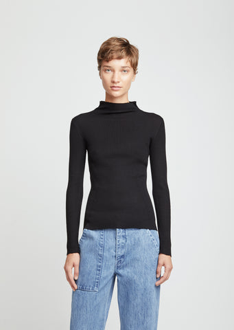 Merino Flatrib Roll Neck Sweater