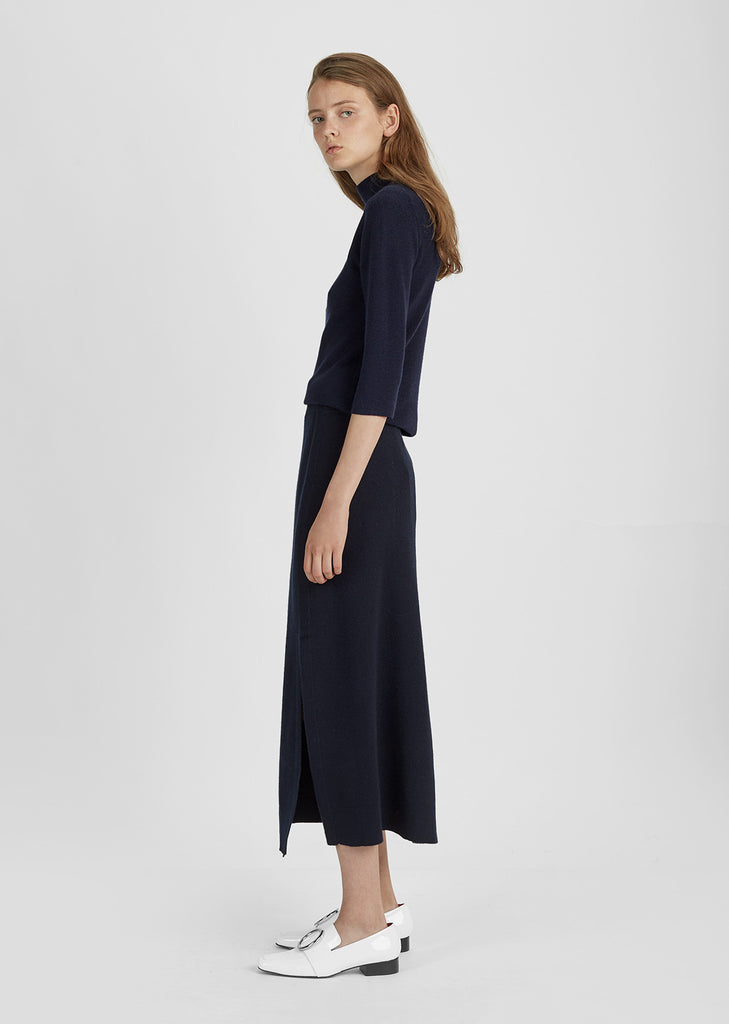 Wool Cashmere Midi Skirt