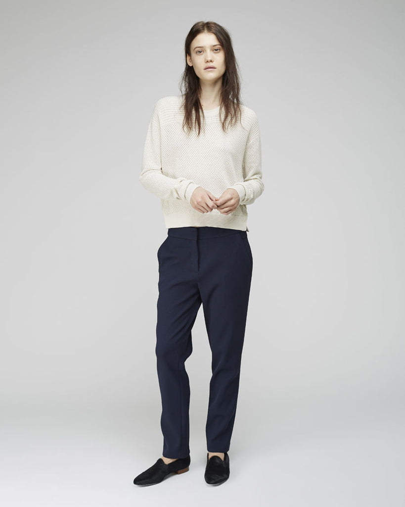Cropped Paneled Pullover