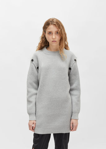 Wool Cashmere Tunic Sweater
