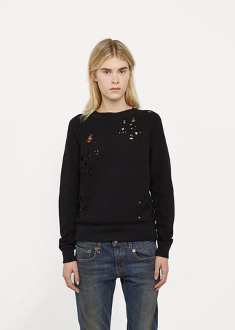 Shredded Zip Side Sweatshirt