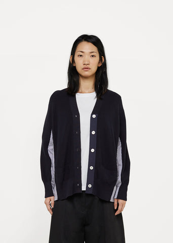 Ribbed Shirt-Cardigan