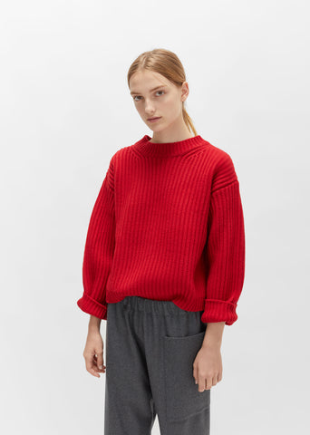 Unisex Wool Crewneck Sweater