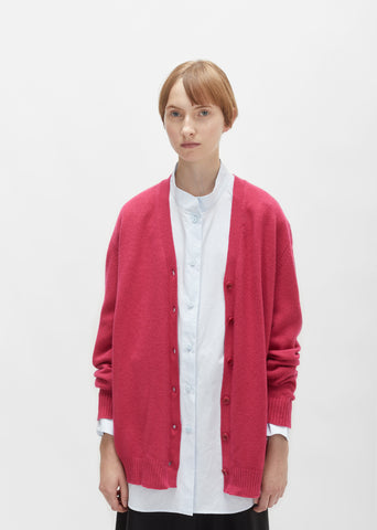 Wool Cashmere Oversized Cardigan