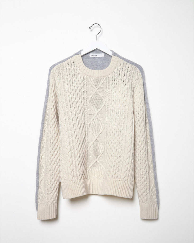 Bi-Color Knit Pullover
