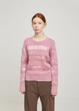 Zaylee Satin Stripe Sweater