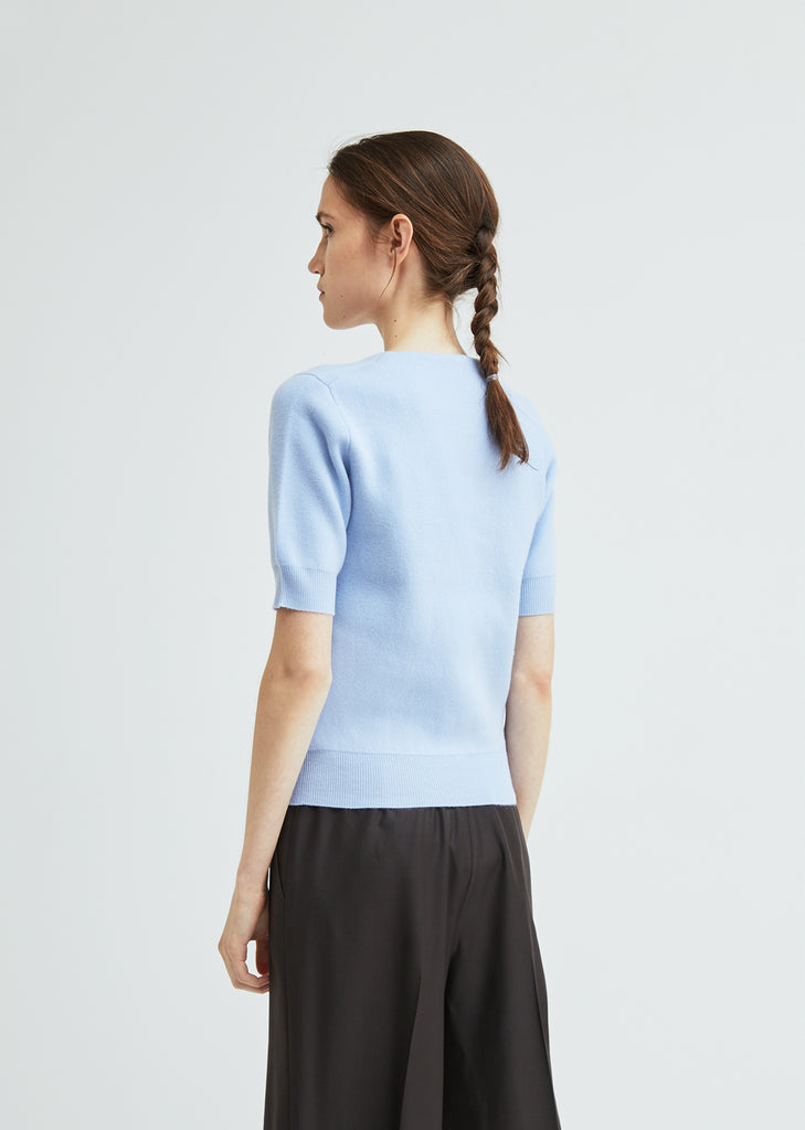 Lorin Felted Wool Short Sleeve Sweater