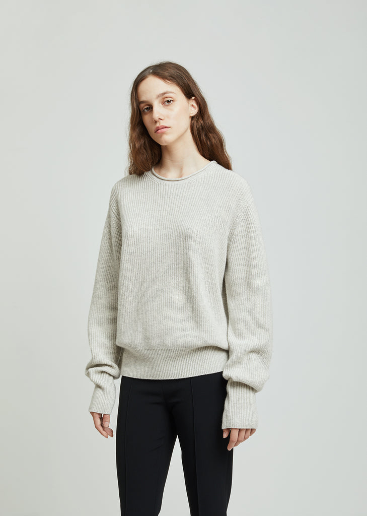 Haily Cashmere Silk Long Sleeve Sweater