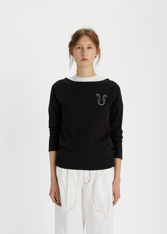 Boatneck Cotton Sweater