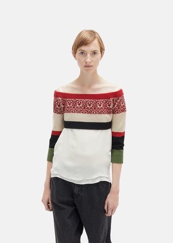 Cropped Off The Shoulder Sweater