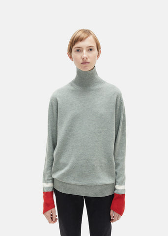 Wool Colorblocked Turtleneck