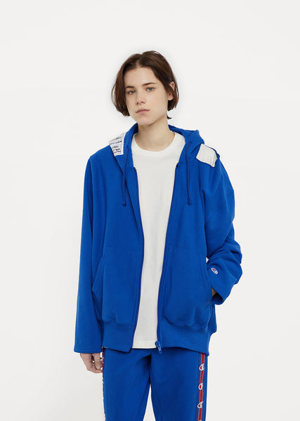 X Champion Zip Up Open Shoulder Hoodie