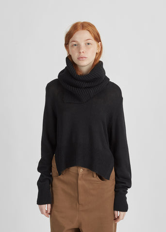 Snood V-Neck Sweater