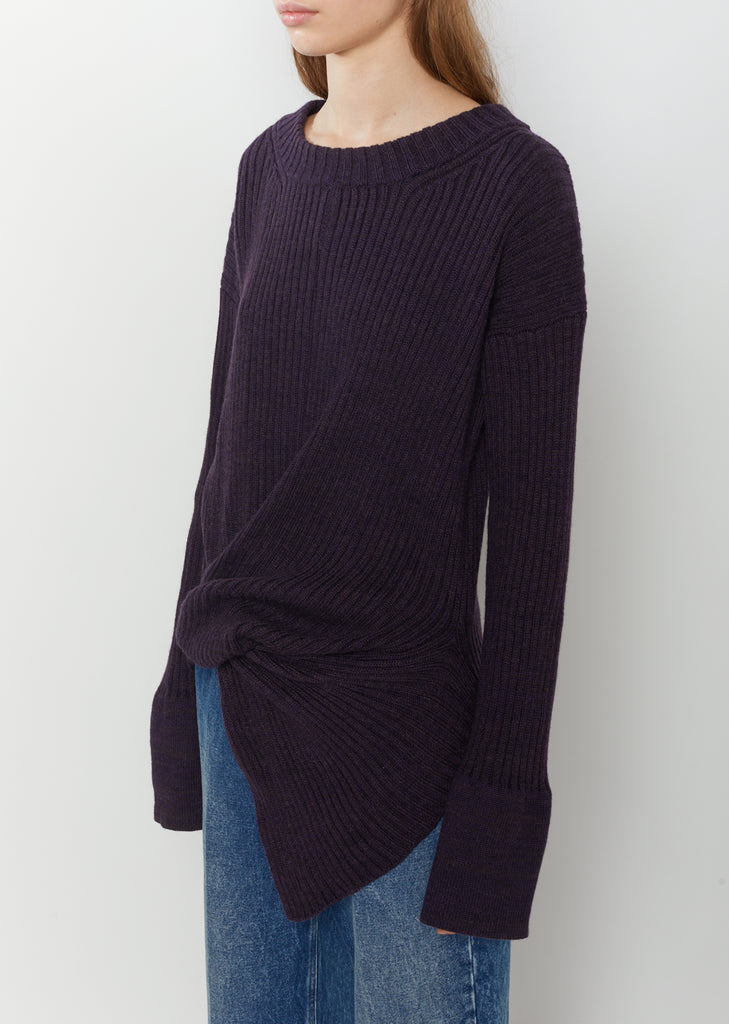 Plain Stitch Knot Sweater