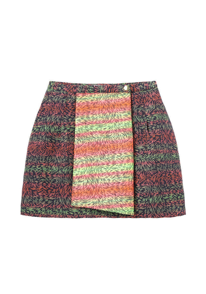 Graphic Wrap Skirt