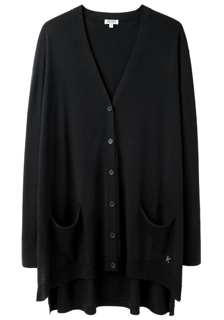Oversized Side-Slit Cardigan