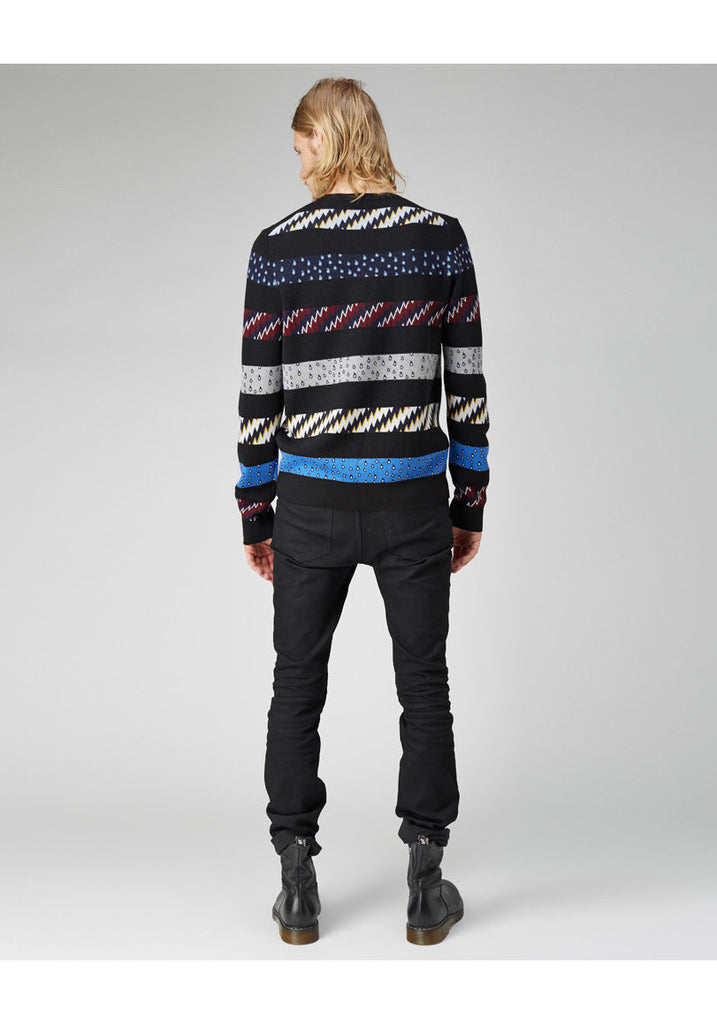 Printed Stripe Pullover