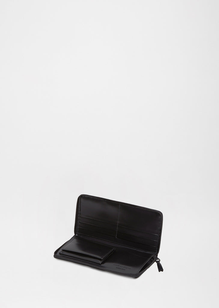 Very Black Long Zip Wallet