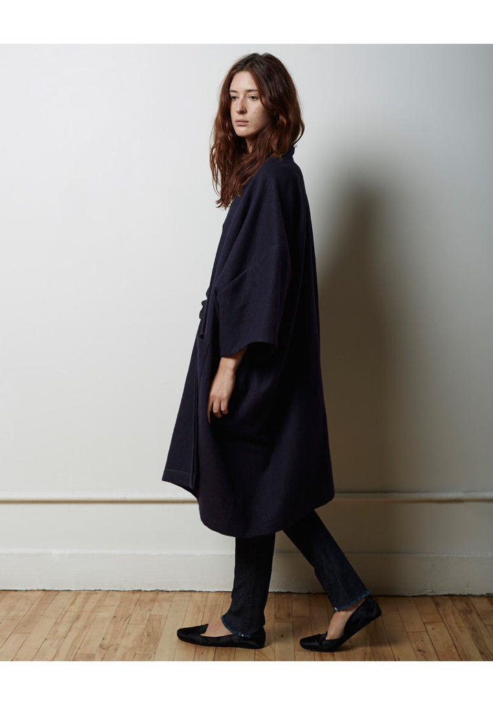 Portrait Wool Cape Coat