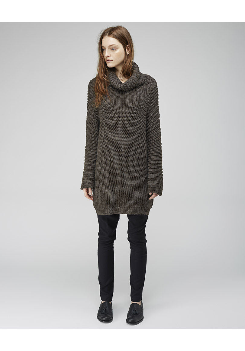Shaker Handloomed Turtleneck