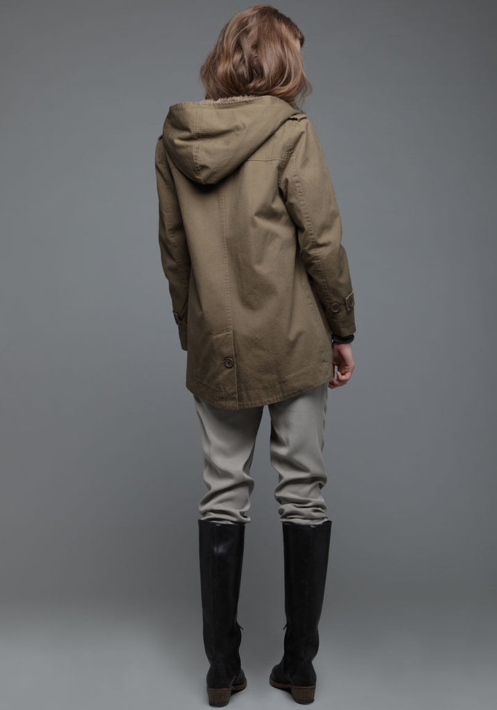 Cotton Hooded Coat