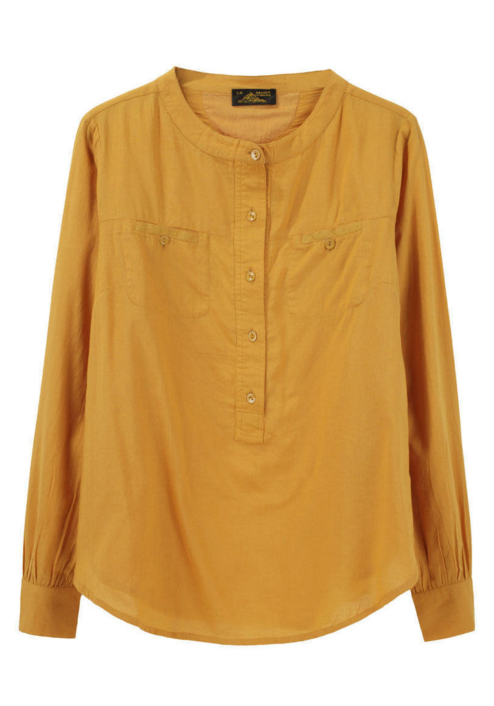 Long Sleeved Henley Top