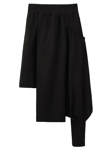 Asymmetric Overlay Skirt