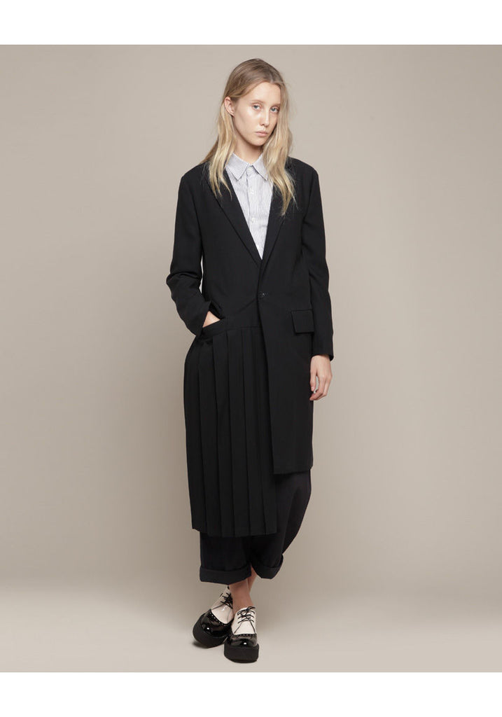 Long Pleated Jacket