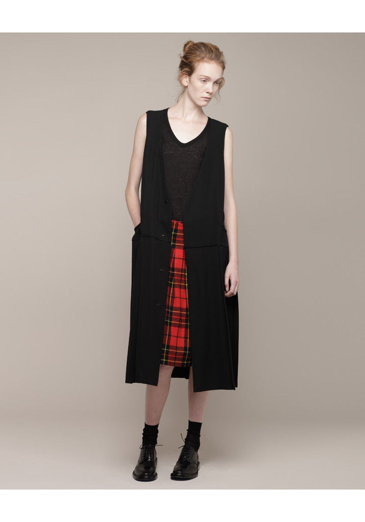 Pleated Vest Dress